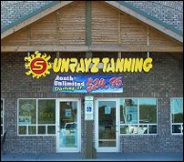 SunRayz Tanning Entrance